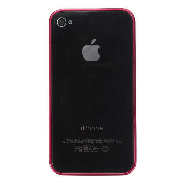 Ultra-thin Metal Aluminum Frame Bumper Hard Case for iPhone 4/4S/5/5S (Rose Red) (Intl)