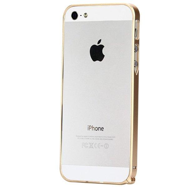 Ultra Thin Slim Aluminum Metal Bumper Case for iPhone SE / 5S / 5 Gold