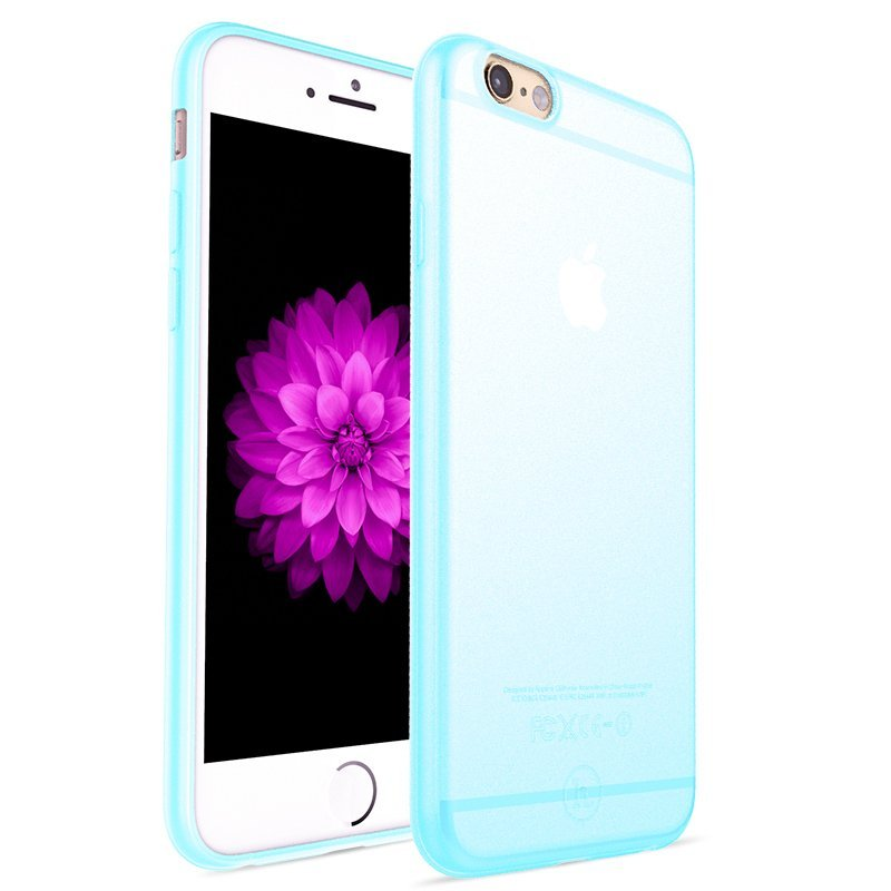 Ultra Thin Slim Matte frosting Transparent Protective Cover Case for iPhone 5/5S Moblie Phone Shell/Cases Transparent + blue (Intl)
