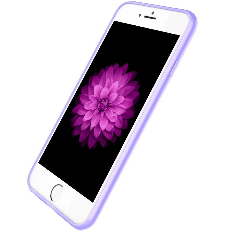 Ultra Thin Slim Matte frosting Transparent Protective Cover Case for iPhone 5/5S Moblie Phone Shell/Cases Transparent + Purple (Intl)
