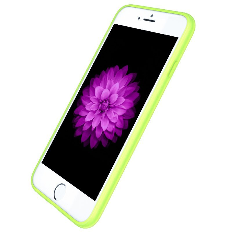Ultra Thin Slim Matte frosting Transparent Protective Cover Case for iPhone 6 /6s 4.7 Moblie Phone Shell/Cases Transparent + green (Intl)