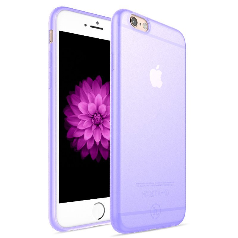 Ultra Thin Slim Matte frosting Transparent Protective Cover Case for iPhone 6 /6s 4.7 Moblie Phone Shell/Cases Transparent + Purple (Intl)