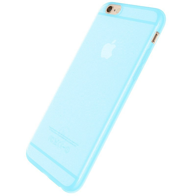 Ultra Thin Slim Matte frosting Transparent Protective Cover Case for iPhone 6 plus/6s plus 5.5 Moblie Phone Shell/Cases Transparent + blue (Intl)