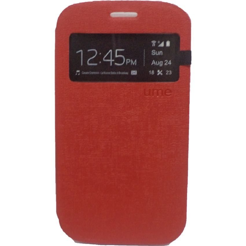Ume Flip Cover Blackberry Q5 - Merah