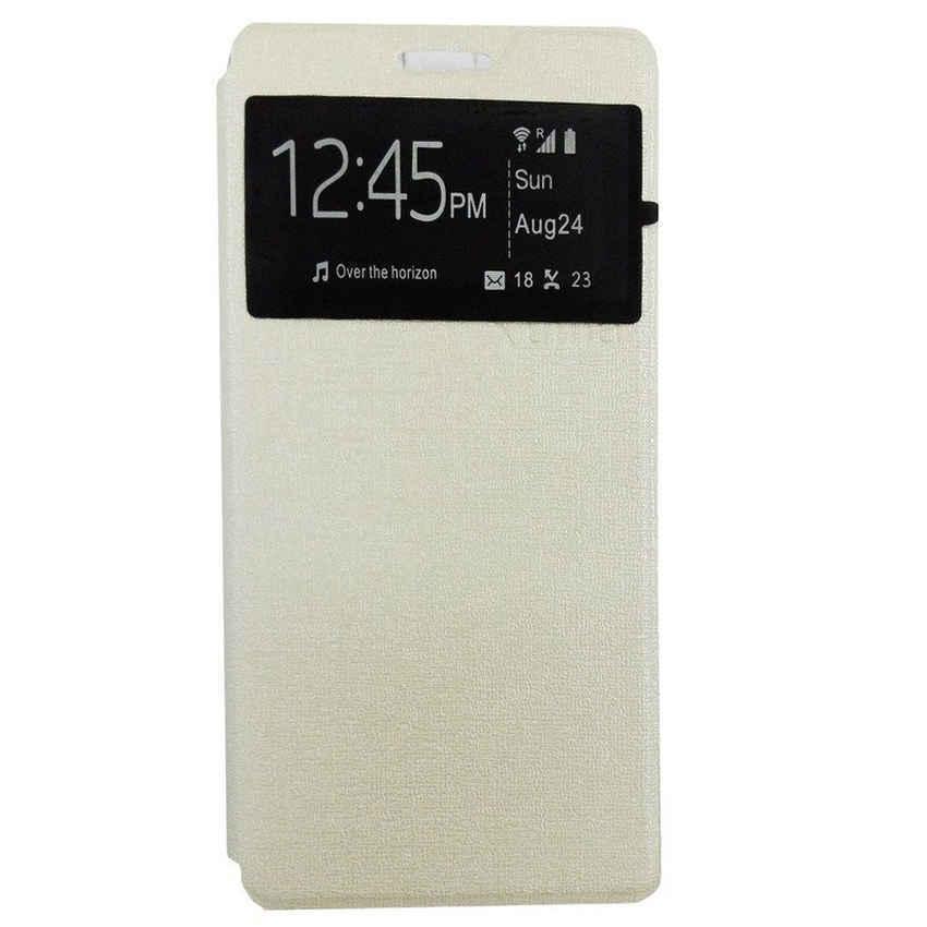 Ume Flip Cover for Lenovo A6000 - Silver
