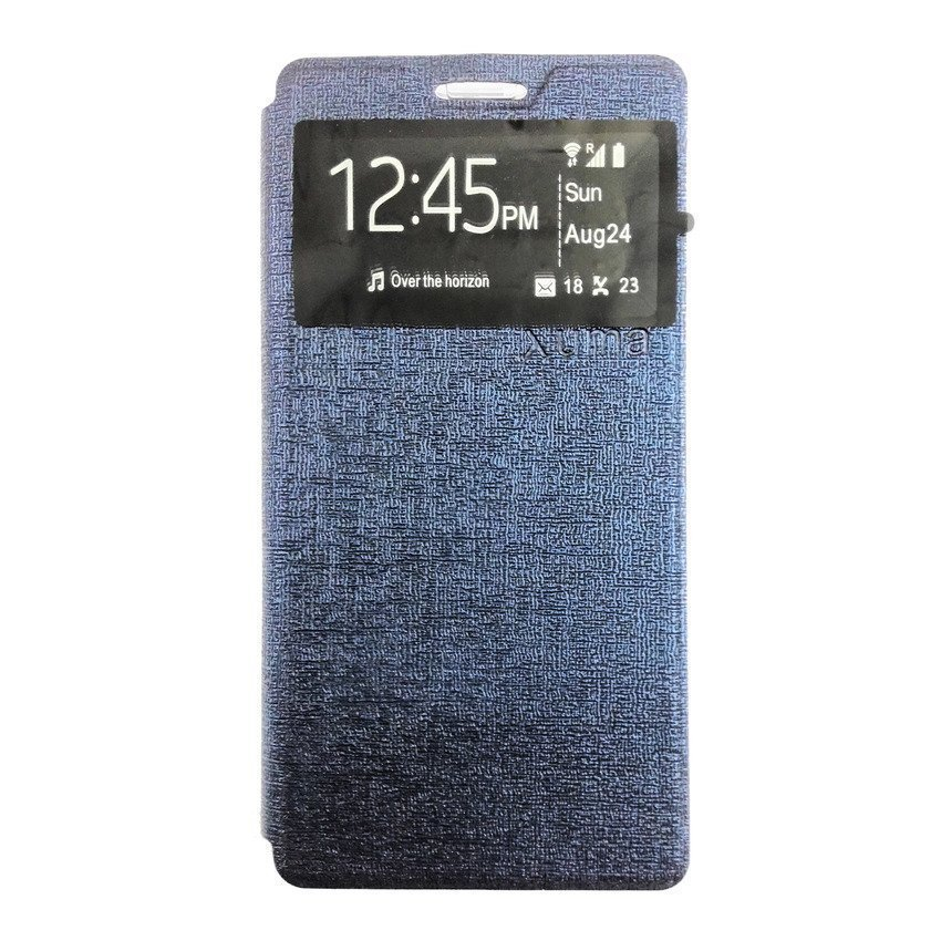 Ume Flip Cover For Lenovo A7000 - Biru Dongker