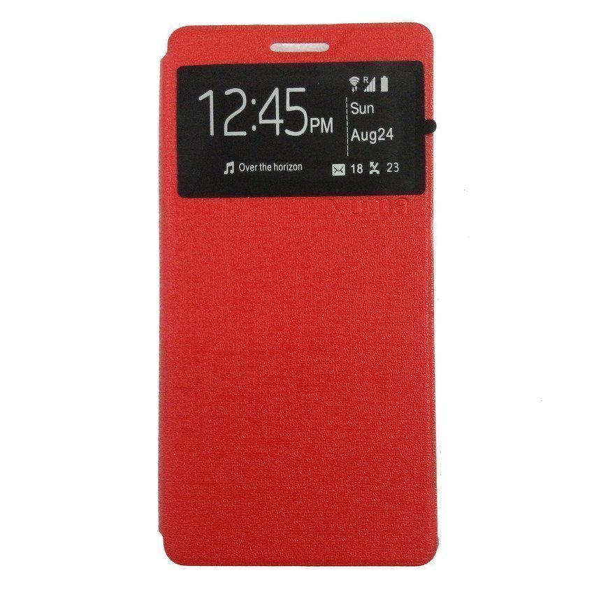 Ume flip Cover for Oppo R1x -Merah