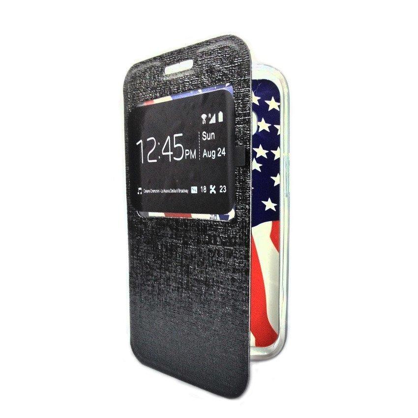 Ume Flip Cover For Samsung Galaxy J1 - Hitam
