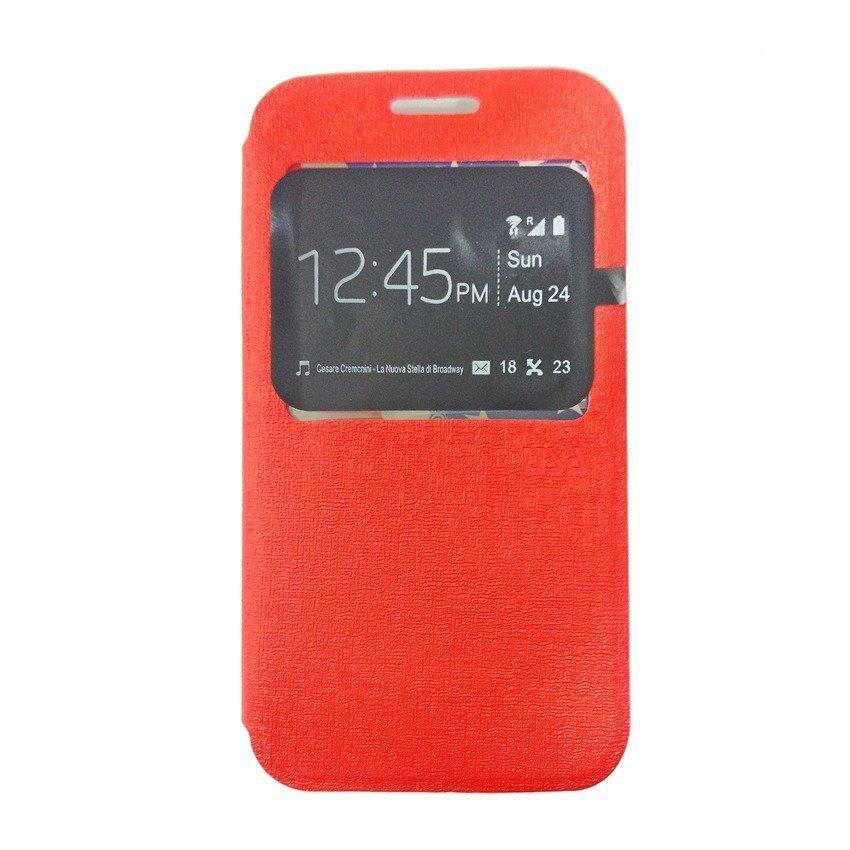Ume Flip Cover For Samsung Galaxy J1 - Merah
