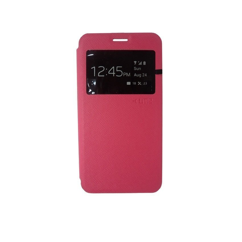 Ume Flip Cover Samsung Galaxy j1 Ace - Pink