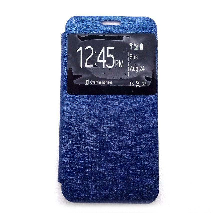 Ume Flip Cover Untuk Samsung A7 2016/A710- Biru Dongker