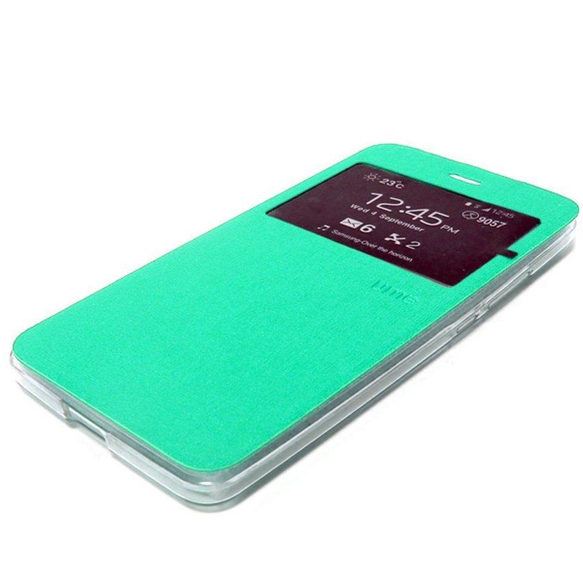 Ume Flip Cover Untuk Samsung Galaxy J1 2016- Hijau Tosca