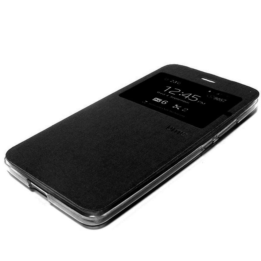 Ume Flip Cover Untuk Samsung Galaxy J1 2016- Hitam