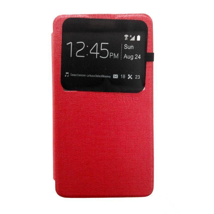 Ume Flip Cover View for Lenovo A536 - Merah