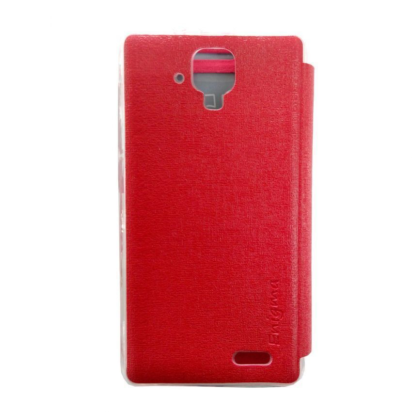 Ume Flip Cover View for Lenovo A536 - Merah