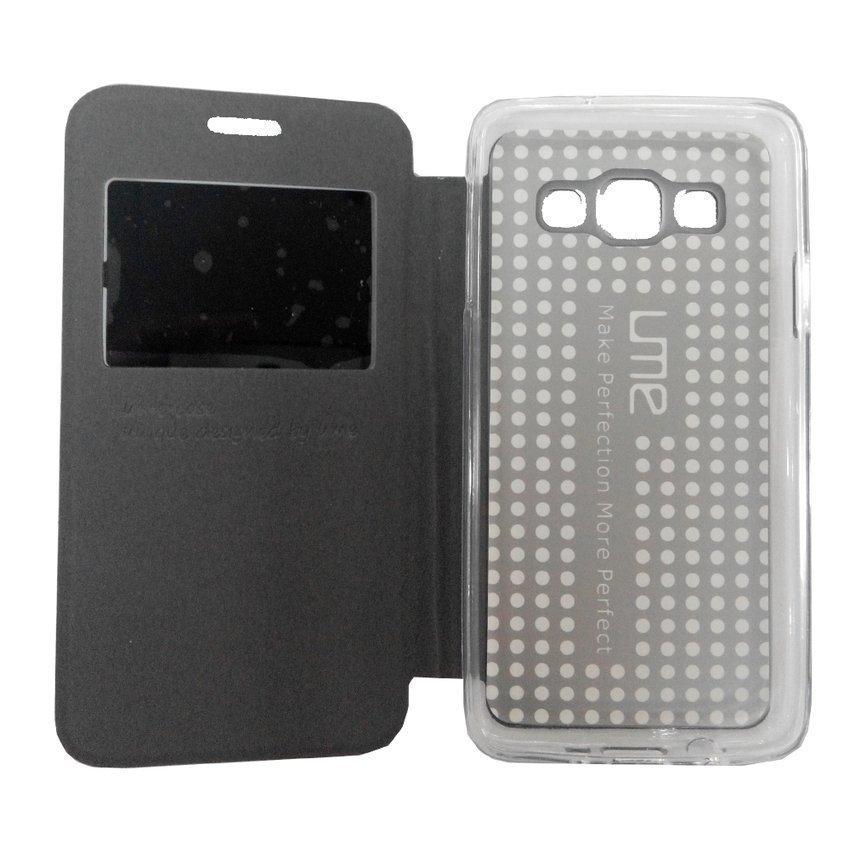 Ume Flip Cover View for Samsung Galaxy A3 - Hitam