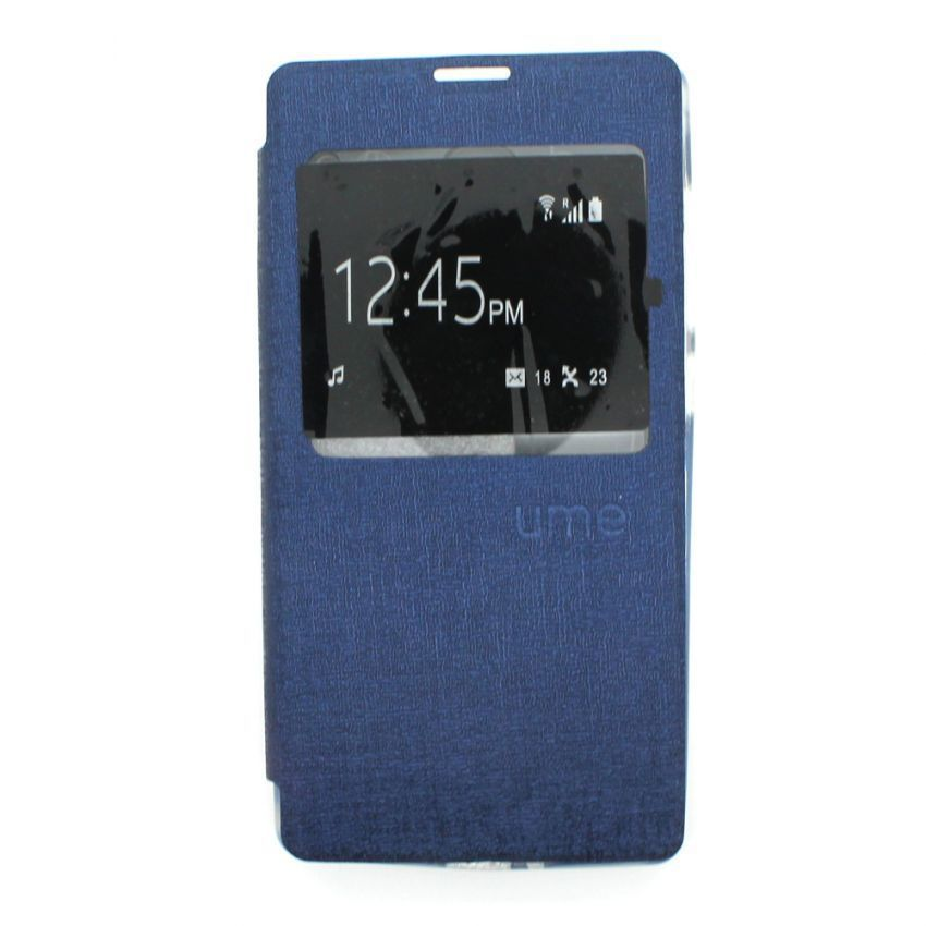 Ume Flip Cover View for Xiaomi Redmi 1S - Biru Dongker