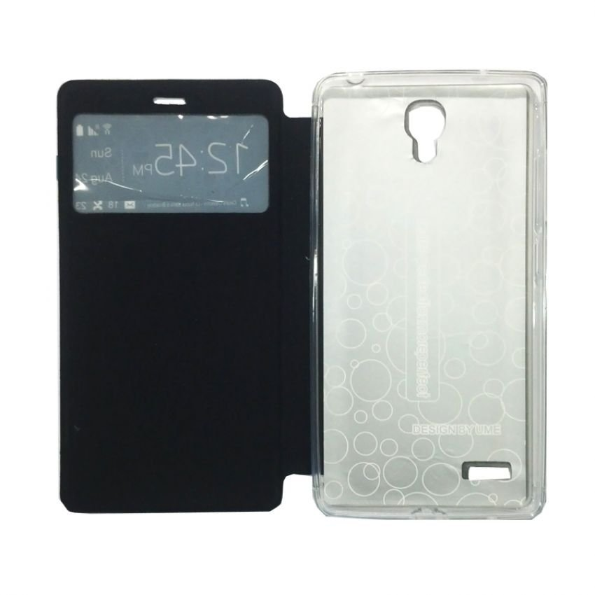 Ume Flip Cover View for Xiaomi Redmi Note - Biru Dongker