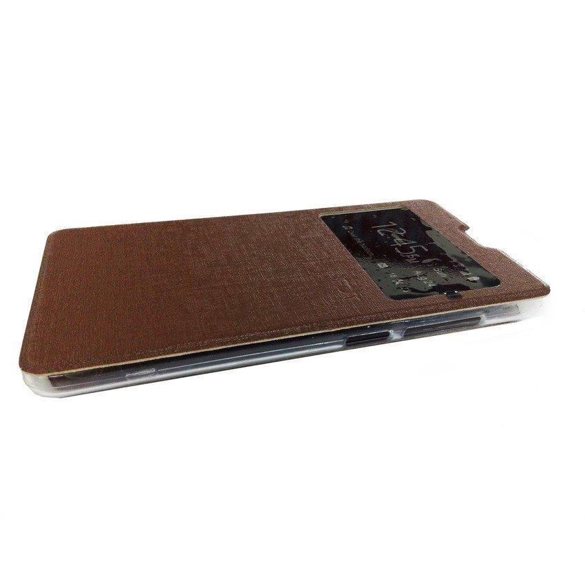 Ume Flip Cover View for Xiaomi Redmi Note - Cokelat