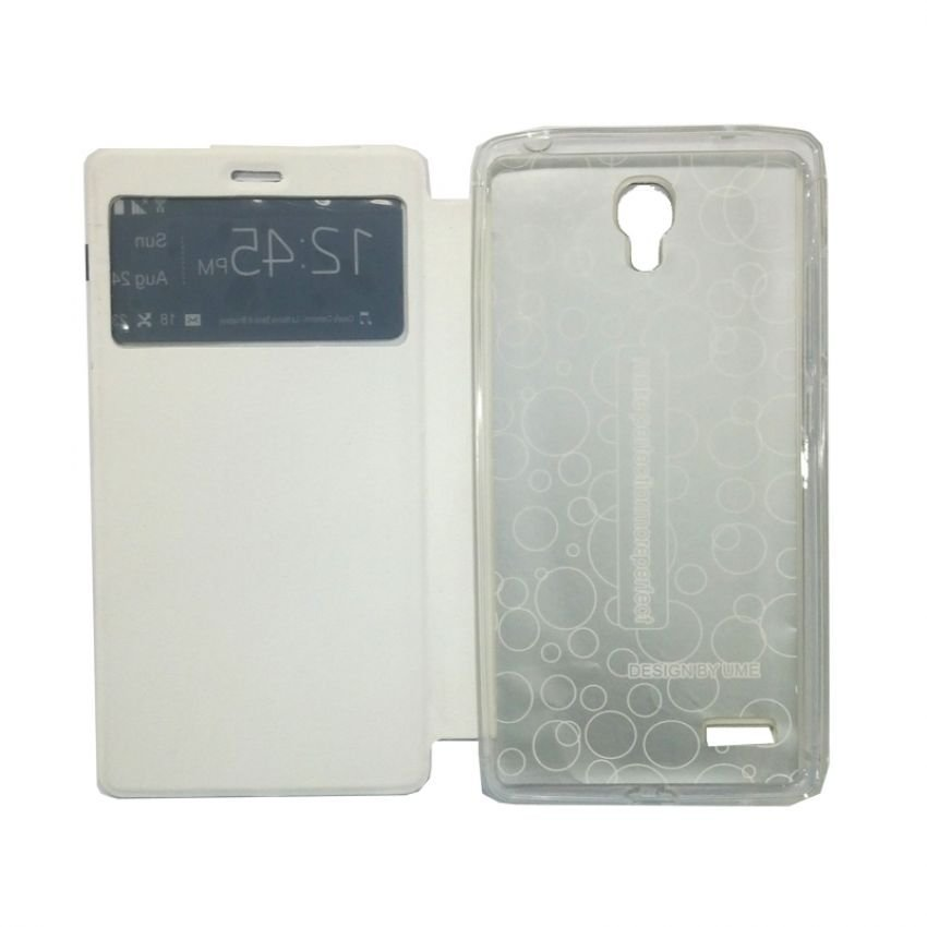Ume Flip Cover View For Xiaomi Redmi Note - Putih