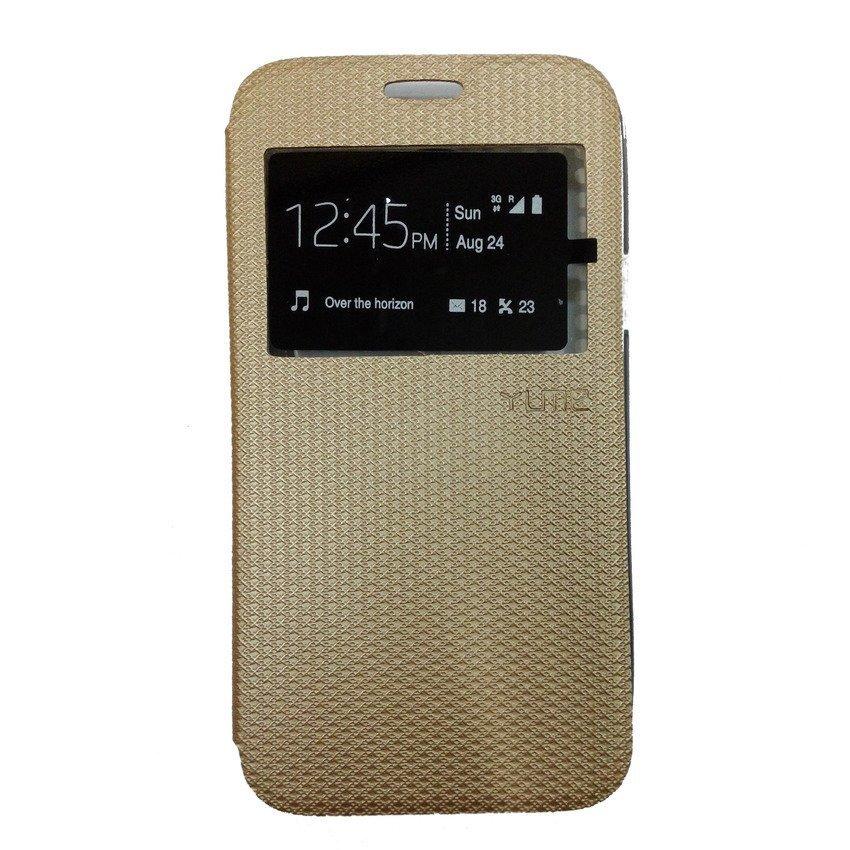 Ume Flip Cover View Samsung Galaxy E7 - Gold