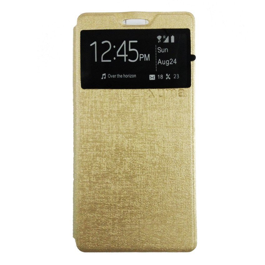 Ume For Samsung Galaxy A3 A300 Flipcase Flipshel Flipcover Casing Cover Leather Case - Gold