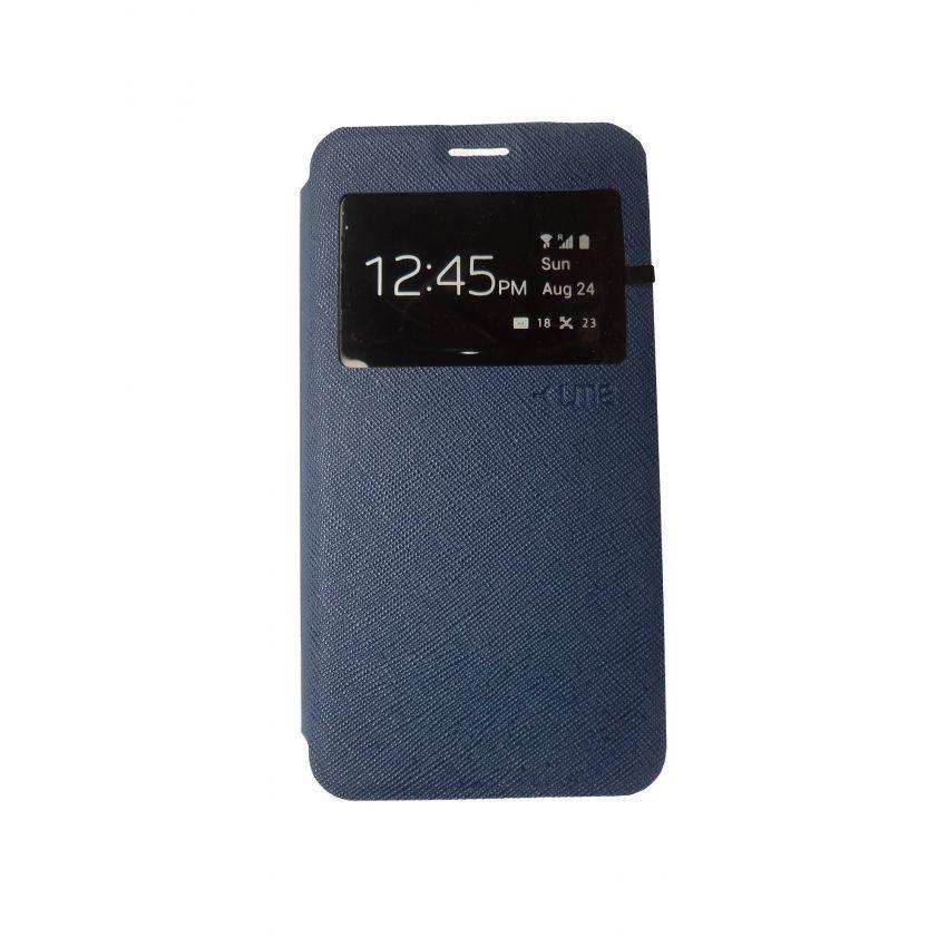 Ume Leather Case Samsung Galaxy Prime G530H - Biru Tua