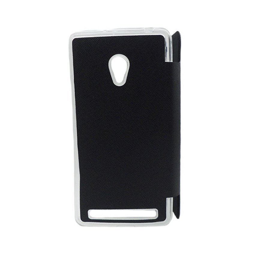Ume Original Leather Case View Asus Zenfone 6 - Hitam