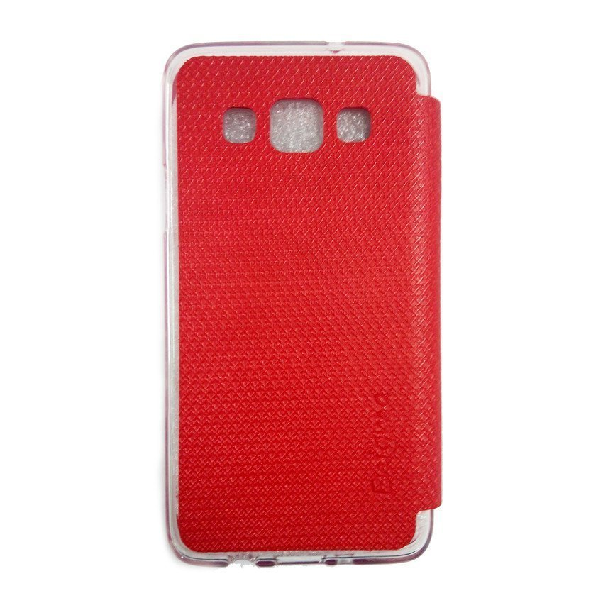 Ume Samsung Galaxy A3 Flip Cover View - Merah
