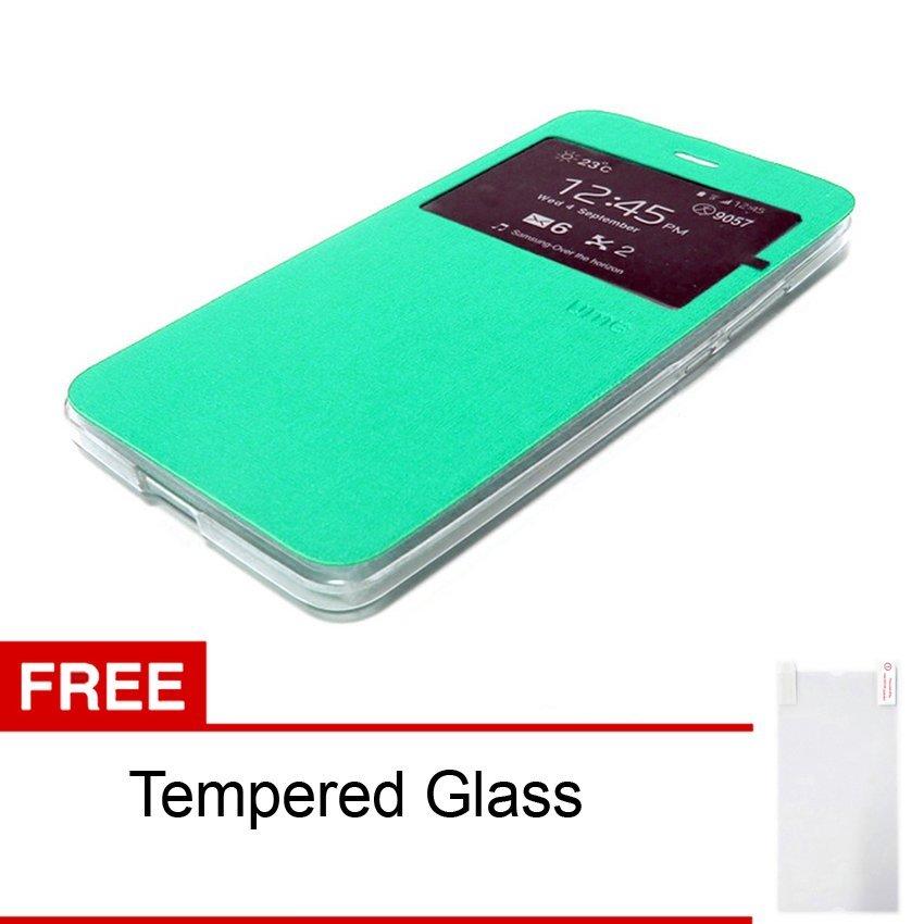 Ume Smart Flip Cover for Samsung Galaxy A5 / A510F 2016 - Hijau + Gratis Tempered Glass