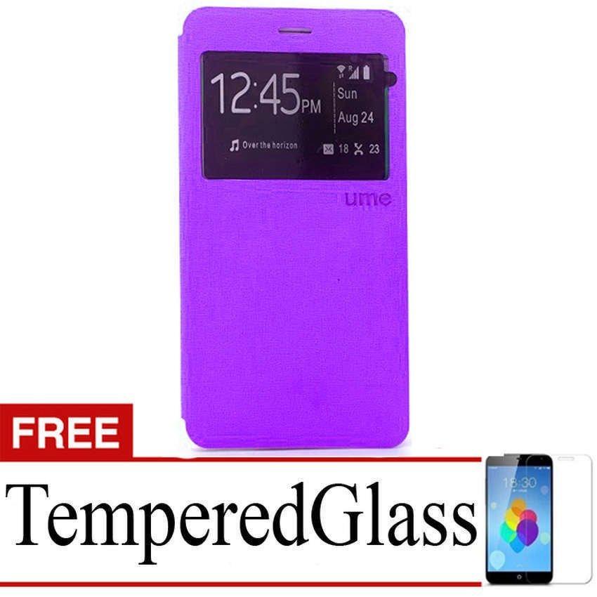 Ume Superior Case untuk Samsung Galaxy J5 - Ungu + Gratis Tempered Glass