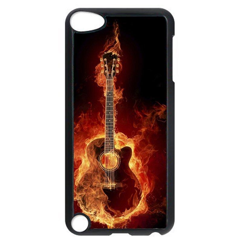 Unique Fire Guitar Phone Case for iPod Touch 5 (Black)