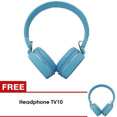 UNiQue Headset In Ear Multimedia Headphone With Built-in Microphone TV-10 Biru - BUY 1 GET 1