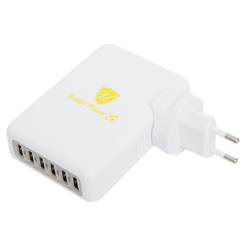 uNiQue USB Smart Multi Charger 6-Port PU-660