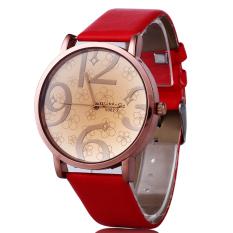 Unisex Fashion Leather Womens Mens Stainless Steel Quartz Watch Wristwatch Gift (Intl)