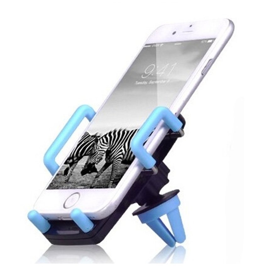 Universal 2 in 1 Car Holder with Windshield and Air Vent Mount - Biru