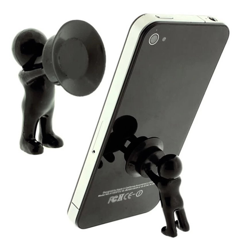 Universal - 3D Man Stand Hercules Mobile Phone Holder - Tatakan HP