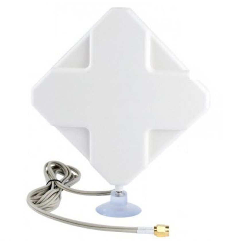 Universal 4G LTE MIMO External Antenna for Modem Routers - Dual SMA Connector - Putih