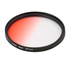 Universal 52mm Filters Circle Mirror Lens Gradient UV For DSLR Camera Lens (Red) - Intl
