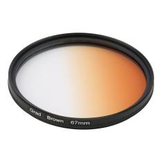 Universal 67mm Filters Circo Mirror Lens Gradient UV For DSLR Camera Lens (Brown)