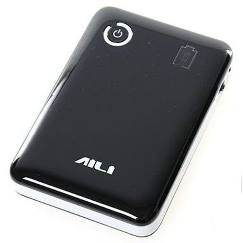 Universal AILI DIY Exchangeable Cell Power Bank Case For 4Pcs 18650 - Hitam-Putih