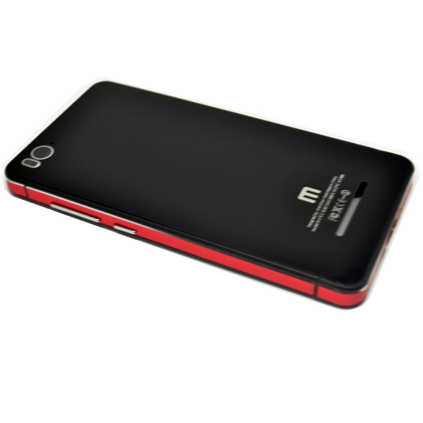 Universal Aluminium Tempered Glass Hard Case for Xiaomi Mi4i - Hitam/Merah