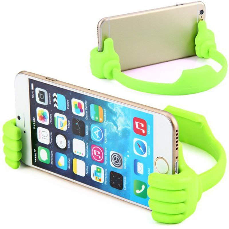 Universal Big Finger Clip Bracket Flexible Phone Stand Holder for iPhone Samsung iPad (Green)