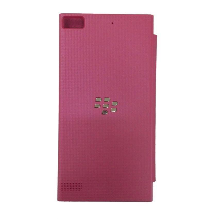 Universal Blackberry Flip Cover BB Z3 - Merah Muda