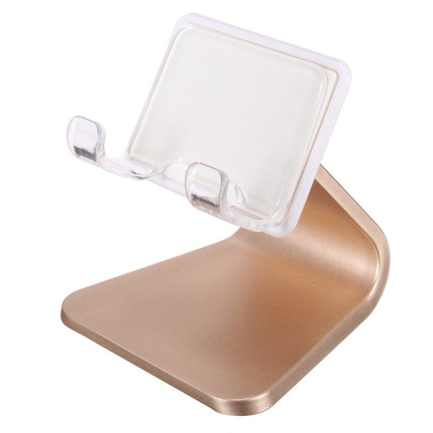 Universal Car Desk Phone Mount Cradle holder Stand for iPhone 6 Plus Samsung S6 Golden (Intl)