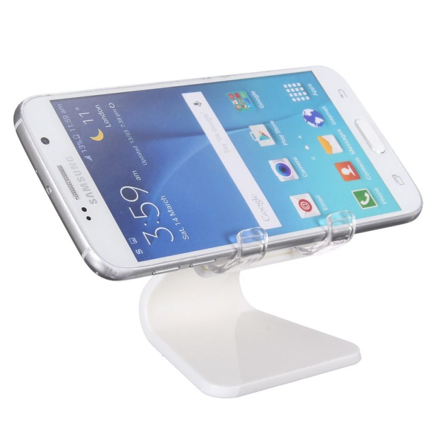 Universal Car Desk Phone Mount Cradle holder Stand for iPhone 6 Plus Samsung S6 White (Intl)