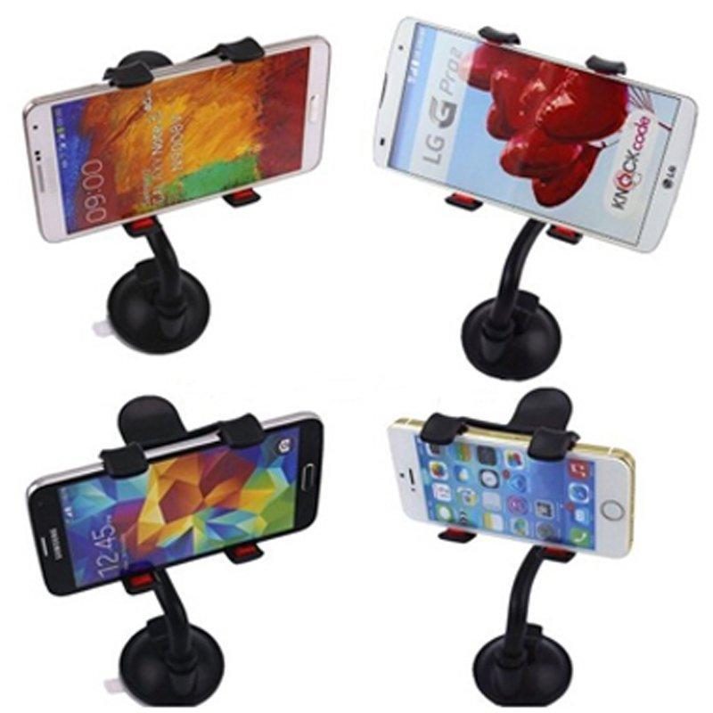 Universal Car Holder Windshield Mount Bracket for Mobile Phones (Black) (Intl)