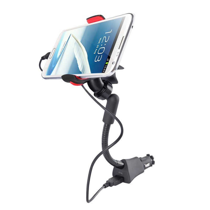 Universal Car USB Charger Holder Mount Stand for Smartphones