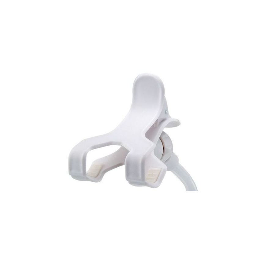 Universal Flexible Neck Clip on Mobile Phone Holder Stand Tablet Holder Stand (White)