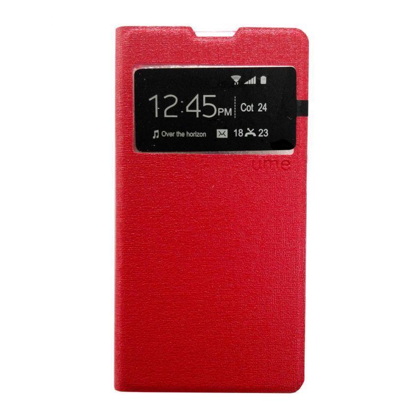 Universal Flip Cover Xiaomi Redmi 1S - Merah